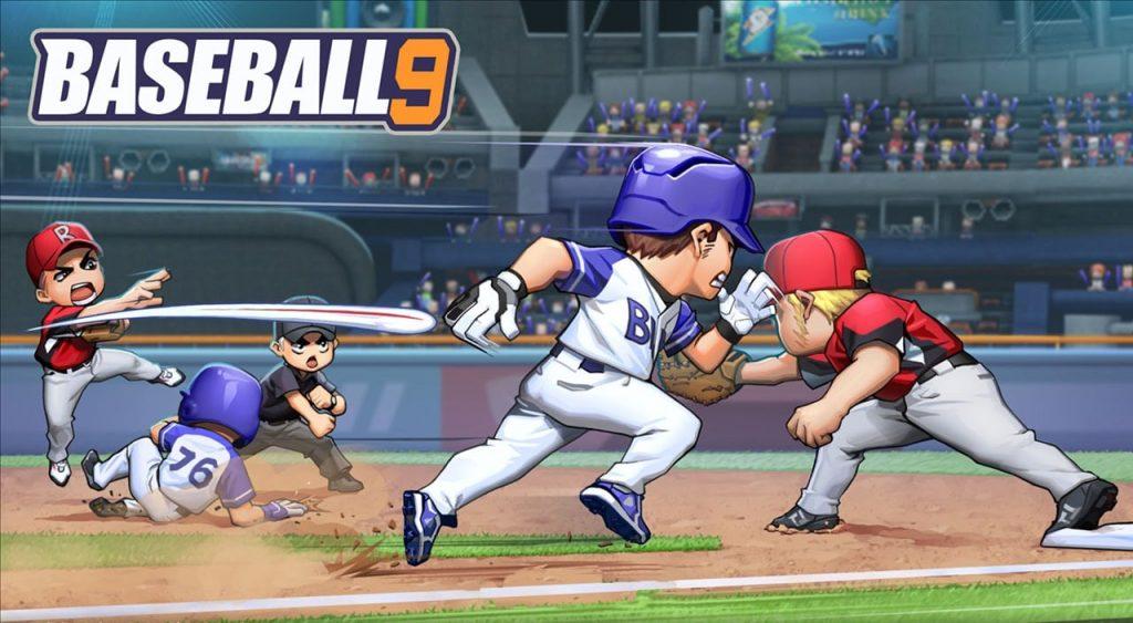 BASEBALL 9 MOD APK characters playing